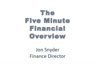 Financial Overview Title Page