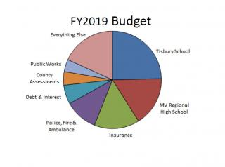 Financial Overview FY19 budget by department